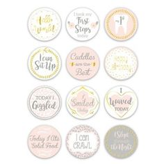 The Peanutshell The Peanutshell Baby Firsts Milestone Stickers