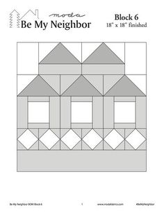 """To celebrate our community of quilters, we've built a neighborhood. Welcome to the Moda'hood!16 free downloadable """"blueprints""""-block pattern that will run thro"""
