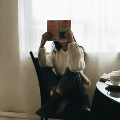 Imagine girl, aesthetic, and book