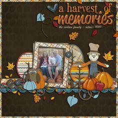 """fall scrapbook ideas   title idea - """"a harvest of memories"""""""