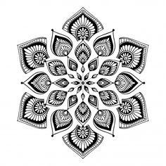 Mandala vector vectors, photos and psd files Mandala Motif, Mandala Design, Mandala Art, Mandalas Painting, Mandalas Drawing, Style Floral, Yoga Logo, Queen Tattoo, Design Tattoo