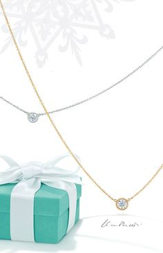To a sparkling holiday. Celebrate this holiday season with Elsa Peretti® Diamonds by the Yard®, a reinvention of the classic diamond necklace that sparkles like freshly fallen snow.