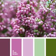 Es fresca y primaveral. Los tonos violetas suaves contrastan perfectamente con el verde. Tal composición de color transmite sentimientos de alegría y optimismo. Les encantará a las personas sociables y atrevidas. Sus tonos pastel pueden ser usados para decorar un dormitorio o un salón.