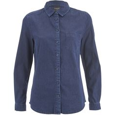 See this and similar SELECTED tops - Dark blue denim shirt from Selected Femme cut with a slim fit. Crafted from pure cotton with a stone washed finish, the lon...