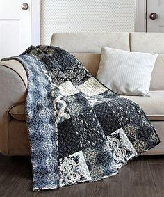 Boho Chic Moroccan Paisley Pattern Navy Blue Cotton Quilt Throw ... : quilt throw blanket - Adamdwight.com