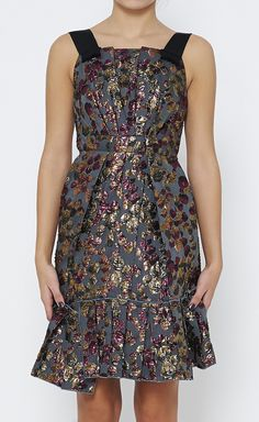Marc Jacobs Gold, Maroon And Multicolor Dress.