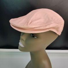 360ab5bd337 Pink Genuine Leather Newsboy Cap ~ Gatsby Hat.