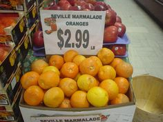 Seville marmalade oranges! Just arrived - perfect for making your homemade preserves! We have everything you need at our store at 662 Montreal Street.