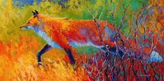 Foxy by Marion Rose Acrylic ~ 15 x 30