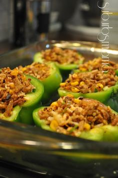 Suburbs Mama: Stuffed Peppers with Ground Turkey