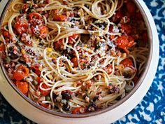 Sunday Supper: Oven-Roasted Tomato Sauce With Salami, Olives, and Pecorino