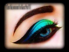 Spring Make Up Tutorial - Exotic, sexy, colorful and bright cat eye (trucco primaverile) FASHION