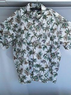 10e4c1c70 Pierre Cardin mens 4X green tropical leaves short sleeve 1 pocket shirt  NWOT #fashion #
