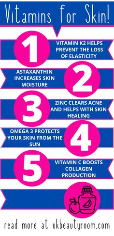 Do you want a smoother, brighter and clearer complexion? These 7 vitamin supplements will give you clear, glowing skin, prevent wrinkles & clear acne. A complete guide to the vitamins for healthy skin, anti aging, and may also help with hair as well as general health. Take these while also keeping up with your regular skincare routine. It will maintain elasticity, and retain moisture in the skin. Best for dark spots and oily skin. For women who want glowing skin. #womenshealth #skincare Beauty Hacks Skincare, Beauty Tips For Skin, Skincare Routine, Diy Beauty, Vitamins For Healthy Skin, Healthy Skin Tips, Oily Skin Care, Skin Care Tips, Organic Skin Care