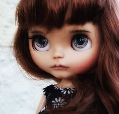 My new custom #blythe #puppelinaeyechips #blythetanskin #gingerhair #sugardollcustom