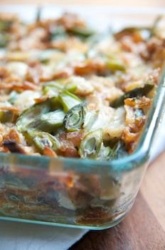 Vegan Green Bean Casserole for the fall season!   #vegan recipe via Vegalicious