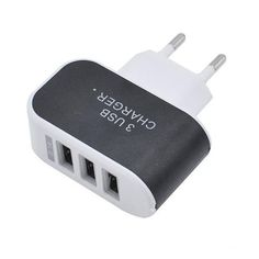 3 USB Port Wall Charger Travel AC Power Adapter, - cell phone accessories