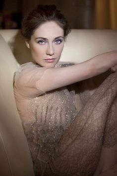 Carice van Houten...she's a lot prettier when she's not being a total creepfest lol