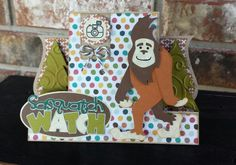 Handmade Sasquatch card Pretty Paper Pretty Ribbons svg