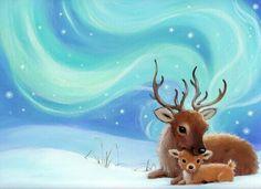 Google Image Result for http://blog.advocate-art.com/wp-content/uploads/Mother-Baby-Deer-Younger-Childrens-Book-Illustration-Alison-Edgson.jpg