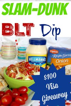 Enter my $100 Visa Gift Card #Giveaway http://freebies4mom.com/bltdip  ad (ends 2/17/16) and print your Lipton® Recipe Secrets coupon to use at @walmart http://lbx.la/LRS8  Make WinningDips like this Slam-Dunk BLT Dip