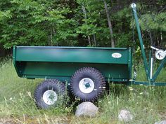 """Due to an unprecedented demand for trailers this spring we have sold out. More product will be available June Consider placing an advance order now to ensure you will receive a trailer in June. The """"SWISS ARMY KNIFE"""" of ATV work trailers MADE IN CANADA Quad Trailer, Log Trailer, Atv Trailers, Dump Trailers, Atv Utility Trailer, Homemade Trailer, Best Atv, Tractor Accessories, Polaris Atv"""