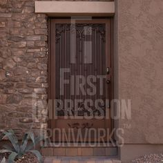 Carmella Iron Entry Gate - First Impression Ironworks Iron Gates, Iron Doors, Entry Gates, Entry Doors, Residential Security, Steel Security Doors, Traditional Styles, Steel Doors, Southwestern Style