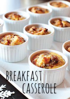 Breakfast Casserole in individual ramekins! Genius for a brunch party