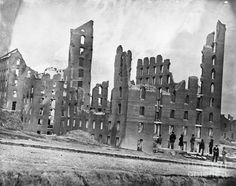 Ruins of the Gallego Flour Mill - Richmond, VA, April 1865  Print by Granger