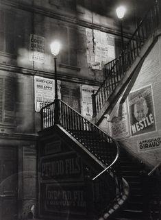 """Staircase in the Rue Rollin"" - Paris - 1934 - photographer Brassai (Gyula Halasz)."