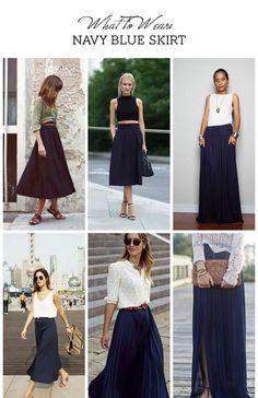 Navy skirt style