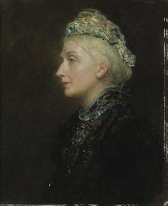 James Sant A portrait of a lady in profile, thought to be Victoria. Princess royal. British, 1820-1916, high resolution