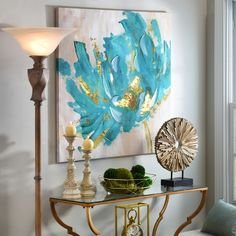 Turquoise and Gold Flower Canvas Art Print - Rebekka W. - - Turquoise and Gold Flower Canvas Art Print living room colors Turquoise and Gold Flower Canvas Art Print Canvas Art Prints, Canvas Wall Art, Painting Canvas, Diy Painting, Pintura Graffiti, Flower Canvas Art, Art Abstrait, Living Room Pictures, Living Room Colors