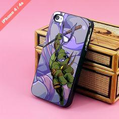 Donatello, Ninja Turtles, TMNT, iPhone 4, 4s Case, Hard plastic, soft rubber