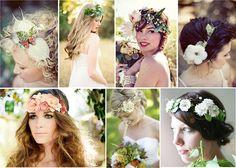 Цветы для свадебных причесок.