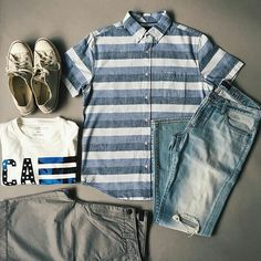 Daily Fashion, Mens Fashion, Fashion Sets, Gap Outfits, Outfit Grid, Modern Man, Spring Summer Fashion, Style Guides, Military Jacket