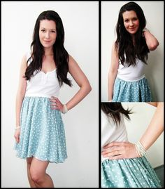 how to make this beautiful half circle skirt