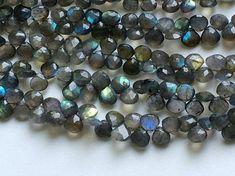 Labradorite Beads Labradorite Faceted Heart Beads by gemsforjewels