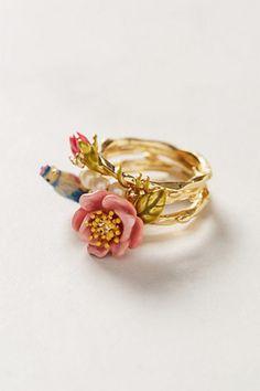 Birdsong Ring Set Cute Jewelry, Jewelry Box, Jewelry Accessories, Jewelry Design, Unique Jewelry, Jewlery, Pandora Jewelry, Cute Rings, Unique Rings
