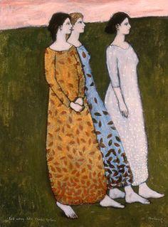 """Fall Coming Like Three Sisters""  - by Brian Kershisnik"