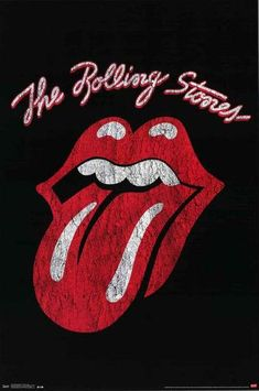 Rolling Stones Classic Tongue Logo Poster 22x34 – BananaRoad
