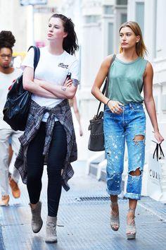 Ireland & Hailey Baldwin's off-duty style