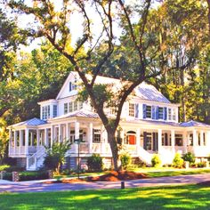 Southern home, love the wrap around porch :)