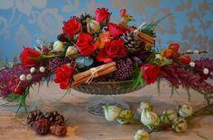 Как создать свой собственный Рождественский стол Центральное место, по Campbells Цветы