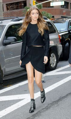 If there's one shoe style Gigi Hadid wears more than anything, it's ankle boots. She even has her own pair with Stuart Weitzman!
