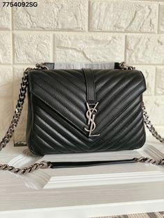 Ysl, Saint Laurent Shoes, Chain Shoulder Bag, Chanel Boy Bag, Black Silver, Saints, Bags, Fashion, Handbags