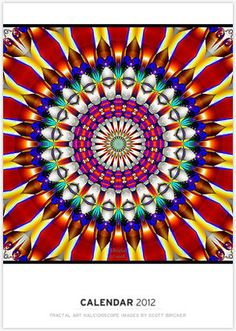 Kaleidoscope Kaleidoscope Style Design Six Images Stock Photo
