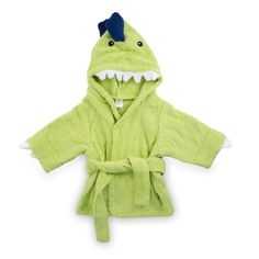 Our personalized Splash-A-Saurus Dinosaur Hooded Towel Robe by Baby Aspen makes bathtime more fun! This Jurassic green, hooded spa robe is made of soft terrycloth with embroidered black eyes, and 3D dino spikes and teeth. Great for any child aged newborn to 9 months, the towel robe closes with a matching belt. Embroider their name and get your child excited about bathtime! https://www.thingsremembered.com/splash-a-saurus-dinosaur-hooded-towel-robe/product/341748?fcref=pinterest&beta=1