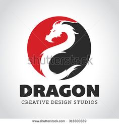 Dragon logo, Business card,Elements for Brand Identity,Vector logo template