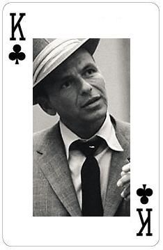 Frank Sinatra playing card...King of Clubs